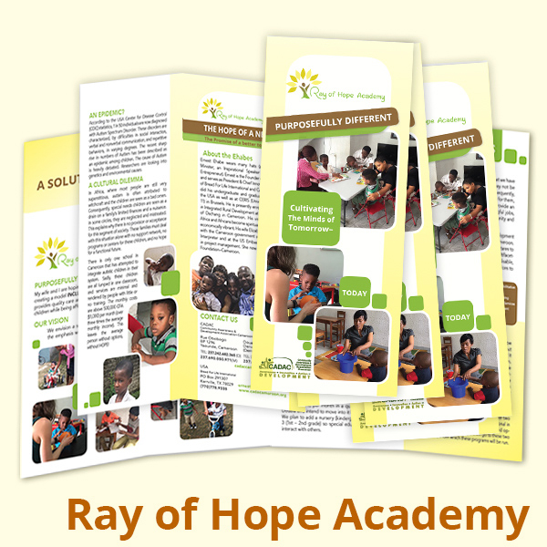 For a pdf of the Ray of Hope Academy brochure please click on the image